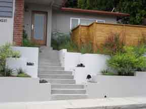 Entry Steps and Retaining Walls