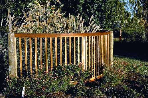 Curving Wood Fence